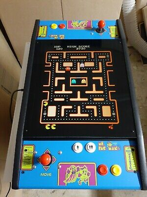 New Ms PacMan   Cocktail Table Arcade Game Multicade Bartop 19 monitor