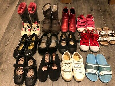 13 X Pairs Girls  Infant Shoes Size 11 Next Zara M&S Etc Boots Pumps Flip flop