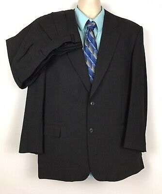 Vito Rufolo Mens Wool Super 100's Black Made in Italy 2 Piece Suit 44 Reg 39x30