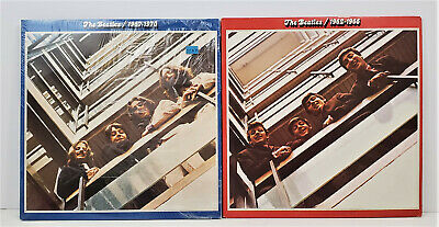 The Beatles Red 1962-1966 and Blue 1967-1970 LP`s Capitol 4 Total Albums 1973