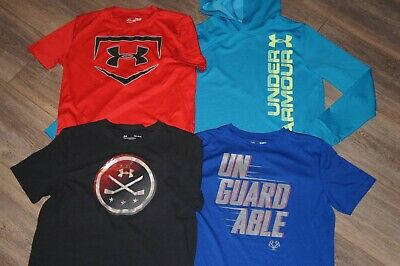 Under Armour Set Boy's Shirts YL Youth L Large GUC