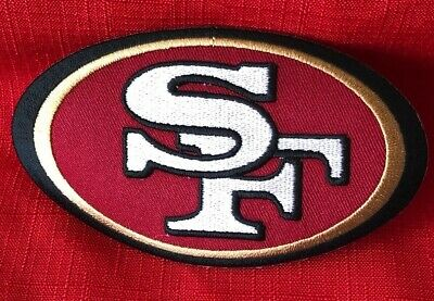 "San Francisco 49ers  3.5"" Iron On Embroidered Patch ~USA Seller!"