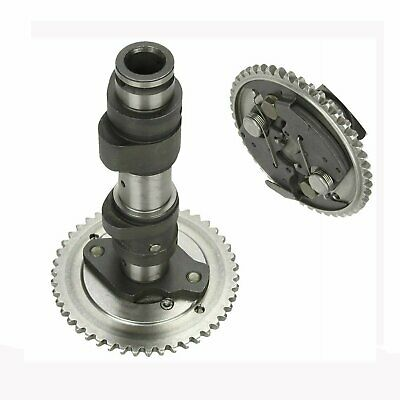 BLACKHORSE-RACING Camshaft Cam Shaft Gear Assembly with Cam Gear Sprocket for 2004-2007 Yamaha Rhino 660 (#5KM-12170-00-00 5KM-12176-00-00)