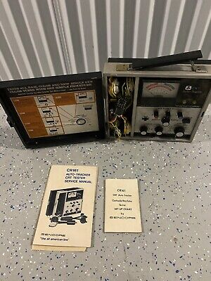 Vintage Sencore CR161 Cathode Ray Tube Tester with Adapters and Manual.