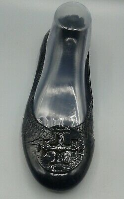Tory Burch - Reva Black Patent Leather Ballet Flat - 9.5 M EUC - single amputee