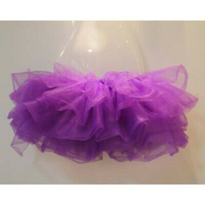Short Purple Trim Petticoat Tutu