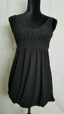 JFW Ladies black dress baby doll dress, size Small sleeveless lined stretch ~G