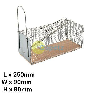 Mouse Cage Trap Reusable 250 X 90 X 90mm Pest Control Catcher Rodent Trap Humane