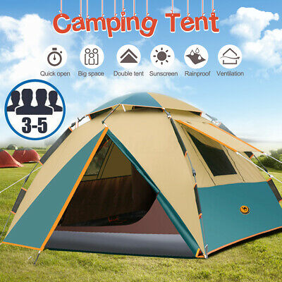 3-5 Person Waterproof Camping Tent Automatic Quick Shelter Outdoor Hiking PRO