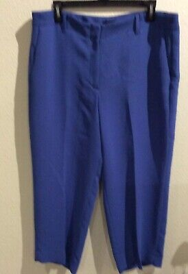 Talbots Pants Blue Cropped Dress Capris Pants Womens 12 New