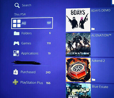 Sony PlayStation PS4 Pro 1TB Console - Black.Demo P.T + ps plus 825 games +box