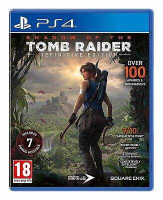 Shadow of the Tomb Raider: Definitive Edition (PS4) Brand New & Sealed UK PAL