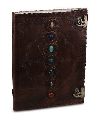 Handmade Journal Leather Diary Writing Notebook Embossed 13 Inches Large