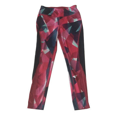 GIrls Avia Large Size 10/12 Athletic Leggings Abstract Full Length Workout