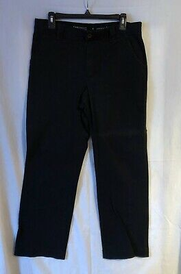 Womens Lee Comfort Waistband Stretch Black Flare Pants Size 12 M