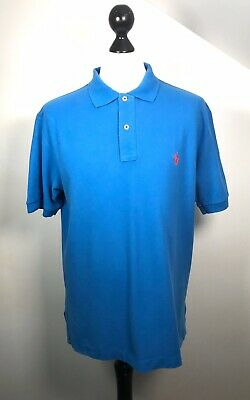 Polo By Ralph Lauren Blue Short Sleeve Polo Shirt Mens Size Large