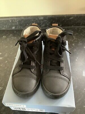 Lovely Clarks Leather City Oasis Hi Top Black Boots Size 10 Excellent Condition