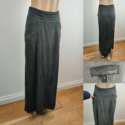 NEXT Women Long Maxi Skirt With Pockets Size 6 Dark Grey With Pockets Brill Cond
