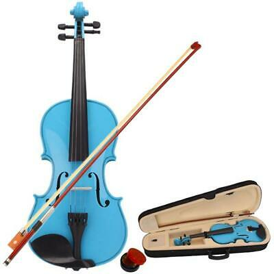 4/4 full Size Natural Basswood Acoustic Violin Fiddle Case Bow Rosin Strings