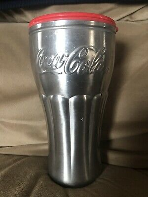 Coca Cola COKE Metal Travel Mug  Drink Container Soda Pop