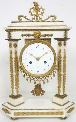 Empire French Marble Portico Mantel Clock 8 Day Bell Striking Mantle Clock C1820