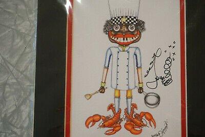 NEW ORLEANS CHEF Jamie Hayes 8X10 FREE SHIPPING CHEF HATS FISH