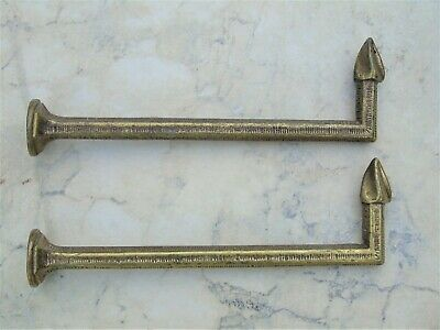 TIEBACK HOOKS FRENCH ANTIQUE Lg Pr 7.5 INCHES LONG 480+gms TASSEL CURTAIN HOOK#3