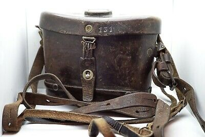 Carl Zeiss Jena Marineglas 6x Binoculars Issued to Ejercito de Chile with Bag