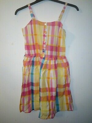 Bnwt Primark Young Dimension Girls Multi Coloured Checked Dress 12-13 Years
