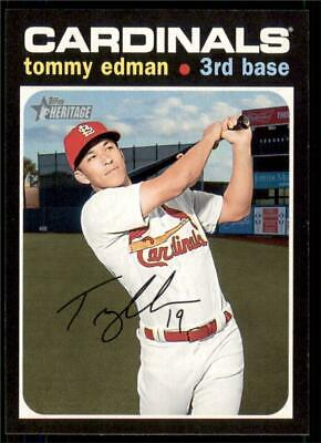 2020 Topps Heritage Base #304 Tommy Edman - St. Louis Cardinals