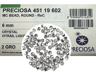 Preciosa Genuine Czech Round MC Faceted Crystals 2-sided Vitrail Green Beads