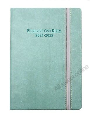 2020 2021 Financial Year Diary Blue Cover with Elastic Week To View A5