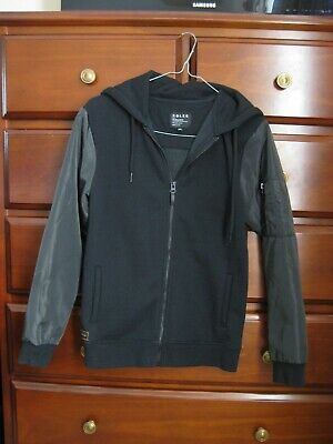 As New Boys Youth Roler by Industrie Indie Black Hooded Bomber Jacket Size 12