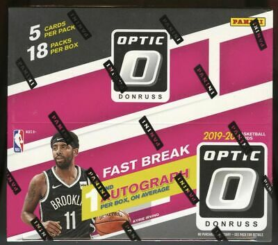 2019/20 Panini Donruss Optic Basketball Fast Break Factory Sealed Box