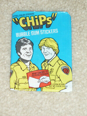 Chips Wax Pack With Trading Cards Unopen