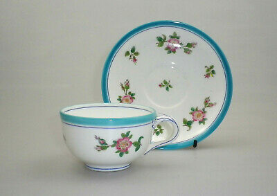 Antique Hand Painted Tea Cup and Saucer
