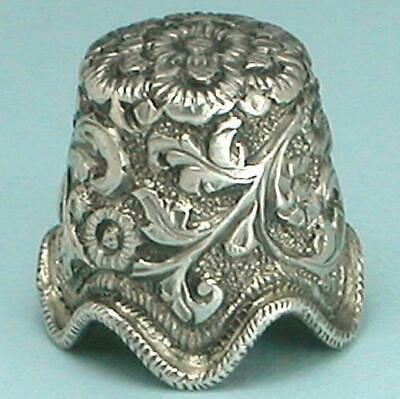 Antique Sterling Silver Thimble from Edwin Holmes' Collection * India * C1890s