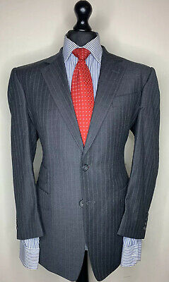 CHESTER BARRIE SAVILE ROW LUXURY DESIGNER SUIT WOOL CASHMERE ENGLISH MADE 40x34
