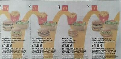 Mcdonalds Vouchers Valid  29/03/2020...28 Vouchers