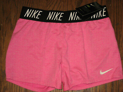 NEW girls athletic running shorts Nike dry Large dri fit 910252 pink