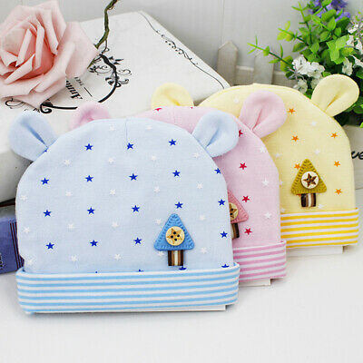 Cotton Baby Hat Soft Cute Newborn Infant Toddler Comfy Baby Cap Beanie Hat d