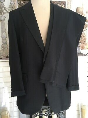 Mens AFTER SIX Rudofker Tuxedo 2 Piece Black 44L FABULOUS Made in USA🇺🇸