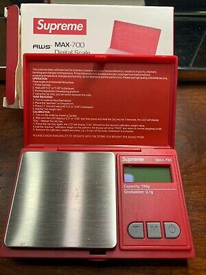 Supreme AWS Max-700 Digital Scale RED New Free Shipping w//tracking JAPAN new