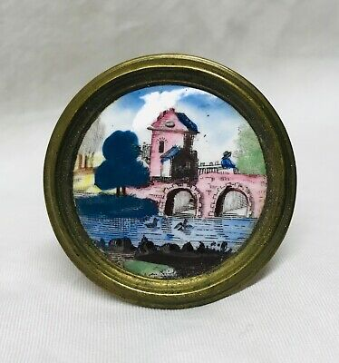 Antique Battersea Mirror Rest Tieback Late 18th / Early 19th Century Federal