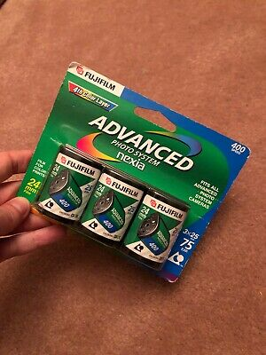FUJIFILM ADVANCED PHOTO SYSTEM 400 SPEED 24mm 3 PACK EXPIRE 2004 UNOPENED