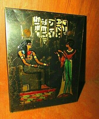 Vintage Wooden Frame Ancient Copper For Pharaonic Characters For Wall Decorative