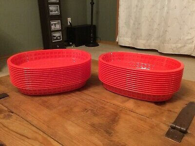 (24) Tablecraft Burger And Fries Baskets Made In The USA. Brand New