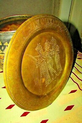 Vintage Copper Decoration Pharaonic Dish For Wall Egyptian Hand Made