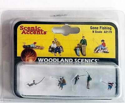 Woodland Scenics Figures O Scale A2766 Misc Freight  train people lionel WDS2766