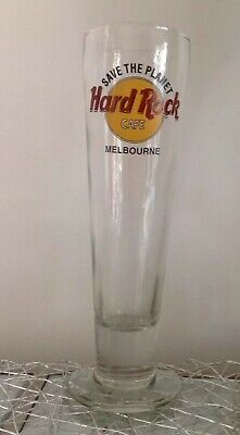 """"""" Save The Planet """" Hard Rock Cafe Melbourne Glass"""